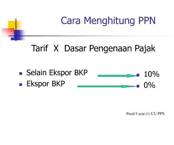 Cara menghitung pajak pertambahan nilai