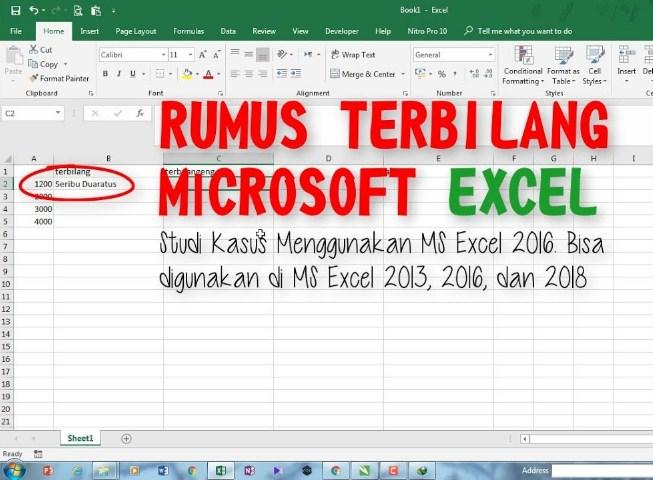 Rumus Terbilang Excel Manual Semua Versi