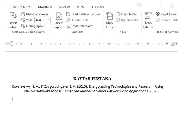 Cara Menulis Daftar Pustaka dari Jurnal