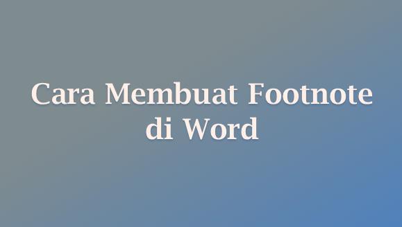 footnote word